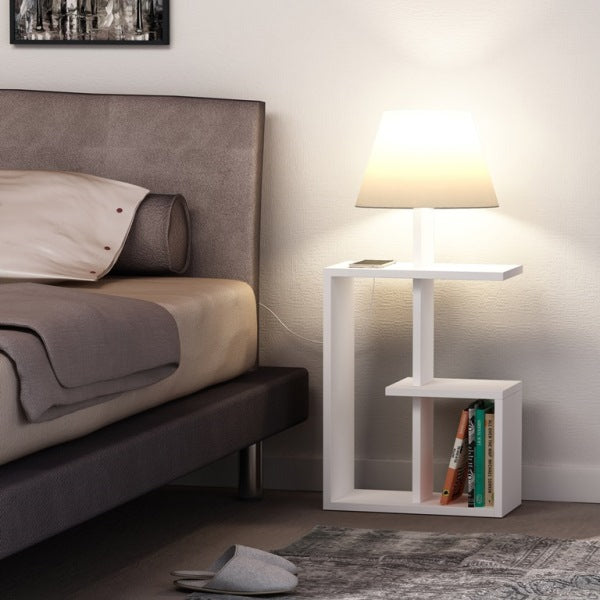 Saly Nightstand with Night Lamp