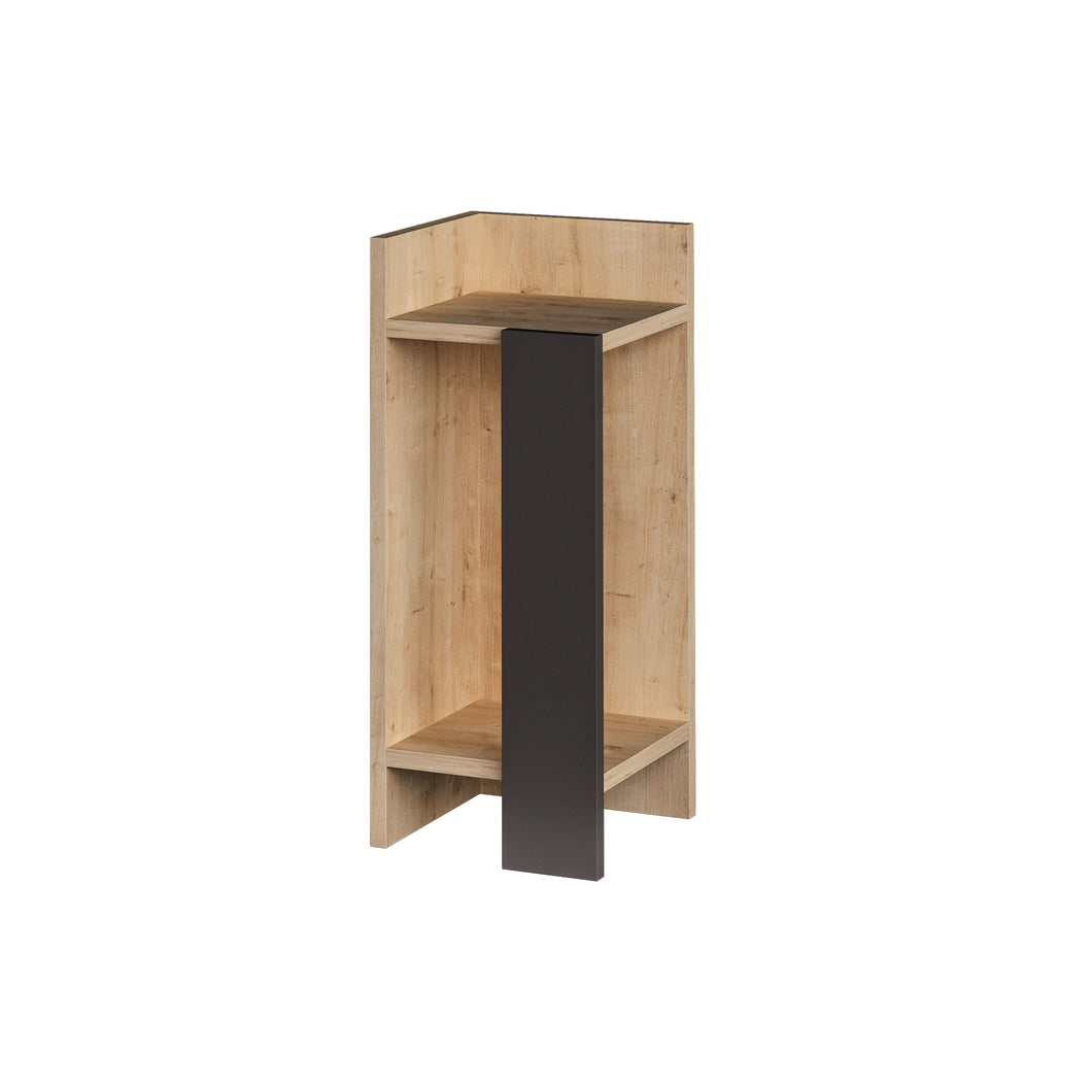Elos left - Oak, Anthracite Nightstand