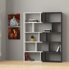 Tapi Set - White, Anthracite Bookshelf