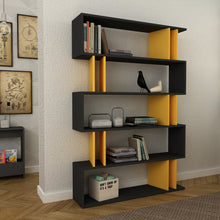 partiro_bookcase_Anthracite_Mustard_musthouse
