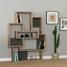 Barce - Oak, Anthracite Bookshelf