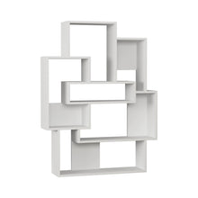 Barce - White, White Bookshelf