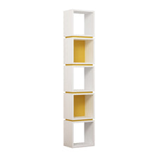 Multi - White, Mustard Bookshelf