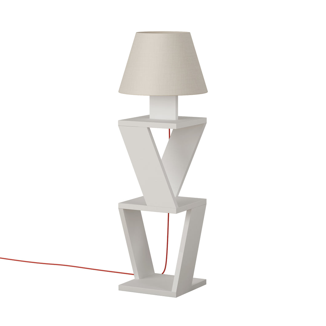 Kozena - White Floor Lamp