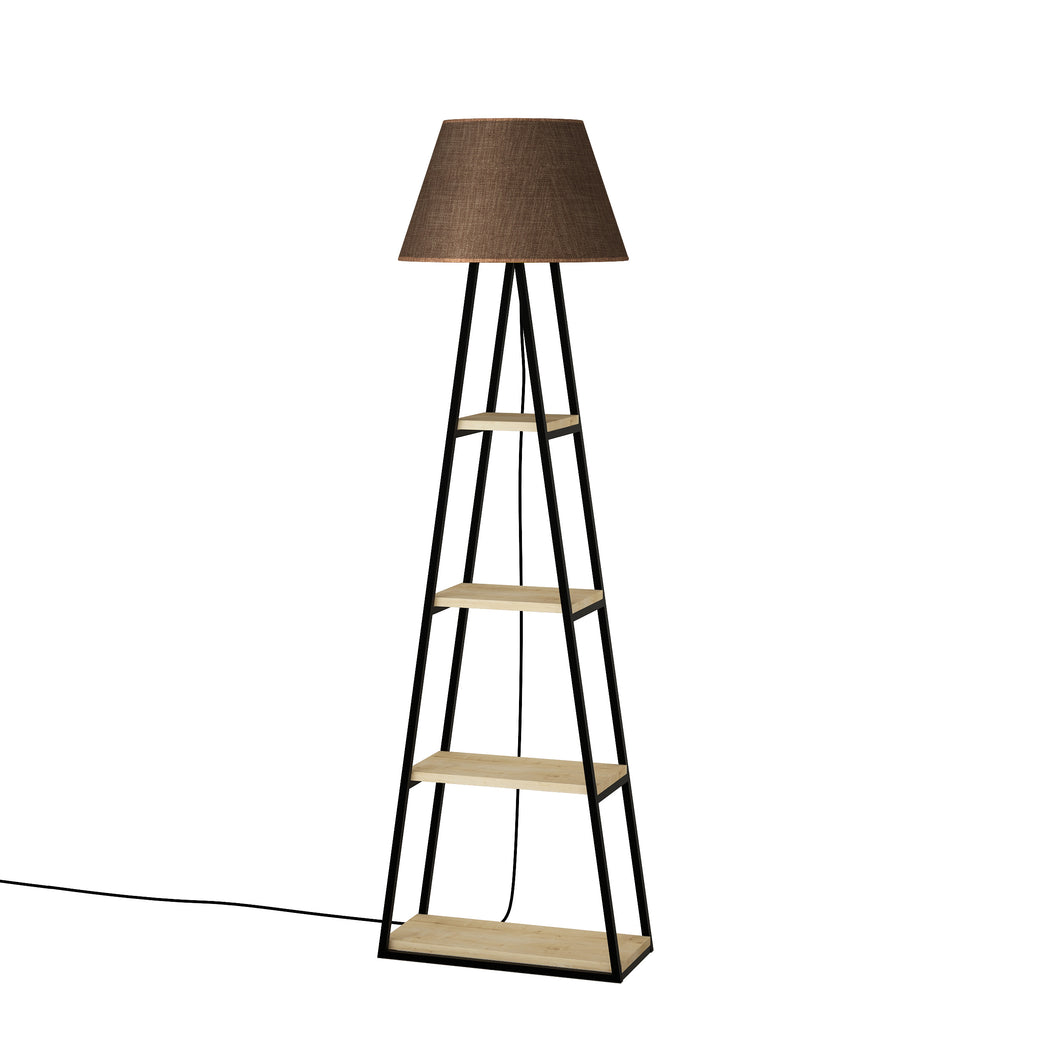 Pal - Oak, Brown Floor Lamp