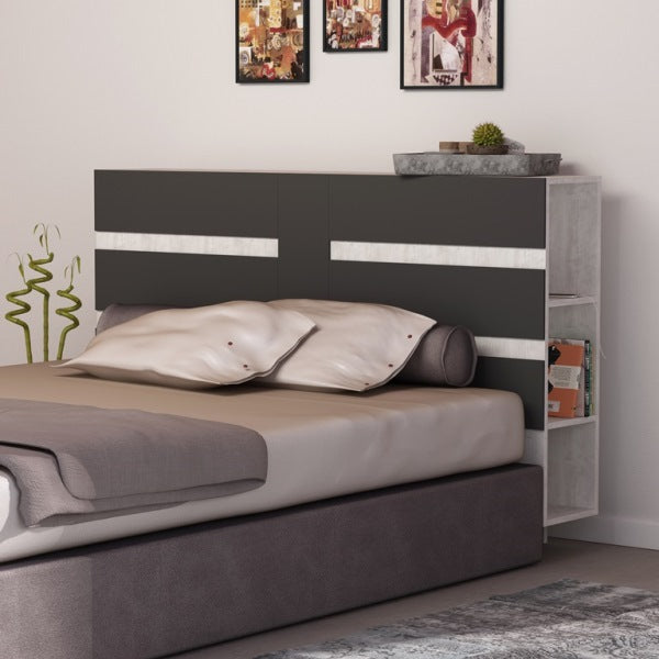 EDDO HEADBOARD WITH CABINET