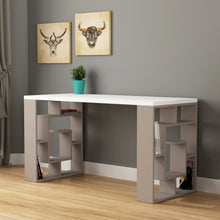 Maze - White, Light Mocha Study Desk
