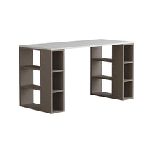 Colmar - White, Light Mocha Study Desk