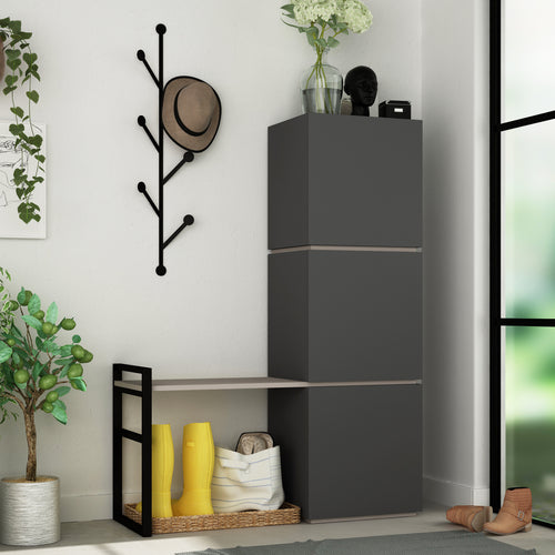 Mello - Anthracite Shoe Cabinet