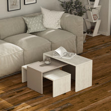 Kanta - Ancient White, Light Mocha, Ancient White Coffee Table Set