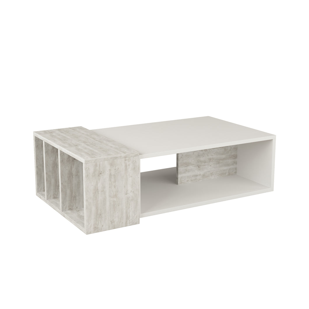 Anita - White, Anthracite, White Coffee Table