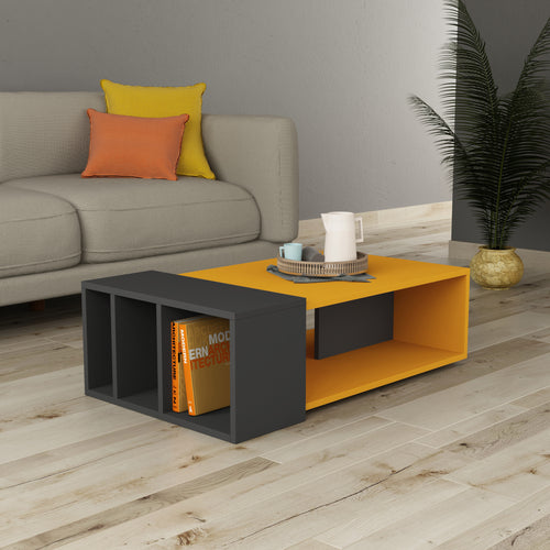 Anita - Mustard, Anthracite Coffee Table