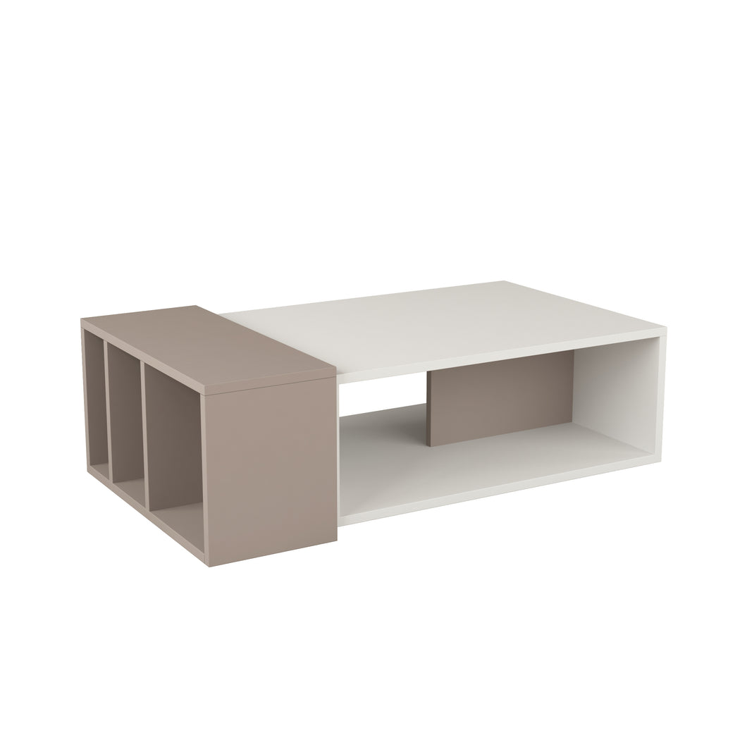 Anita - White, Light Mocha Coffee Table