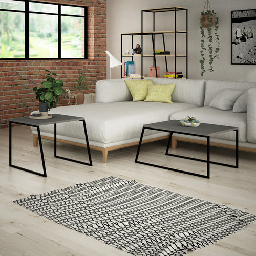 Pal Orta Sehpa - Anthracite Coffee Table Set