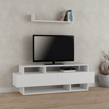 Rela - White, White TV Unit