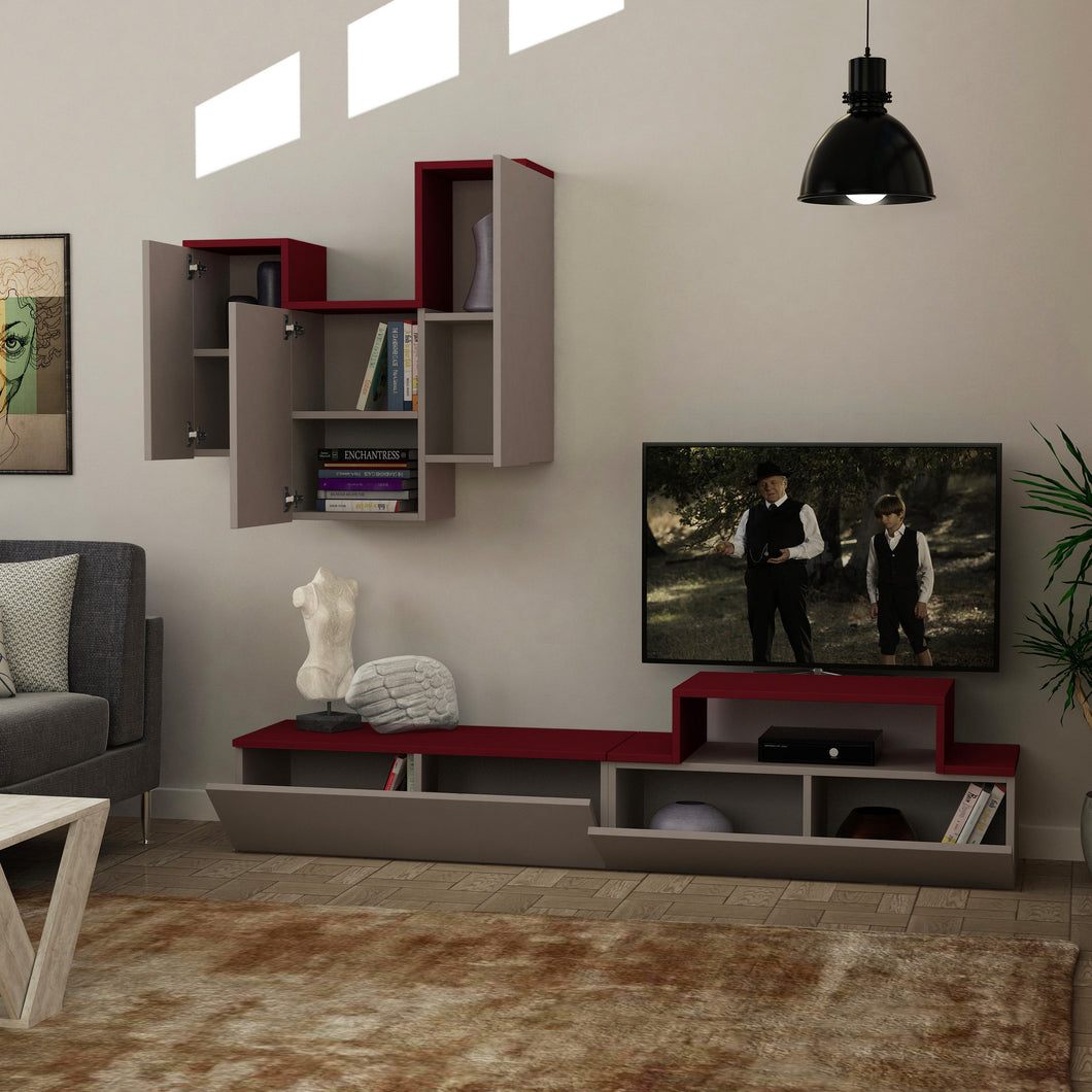 tirtil_tv_stand_Light Moca_Burgundy_musthouse