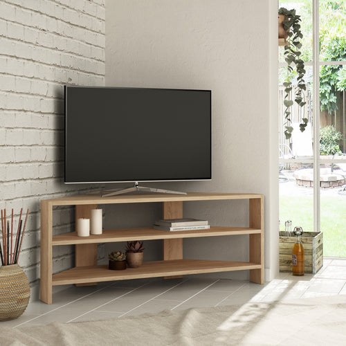 Thales Corner - Dark Brown TV Stand