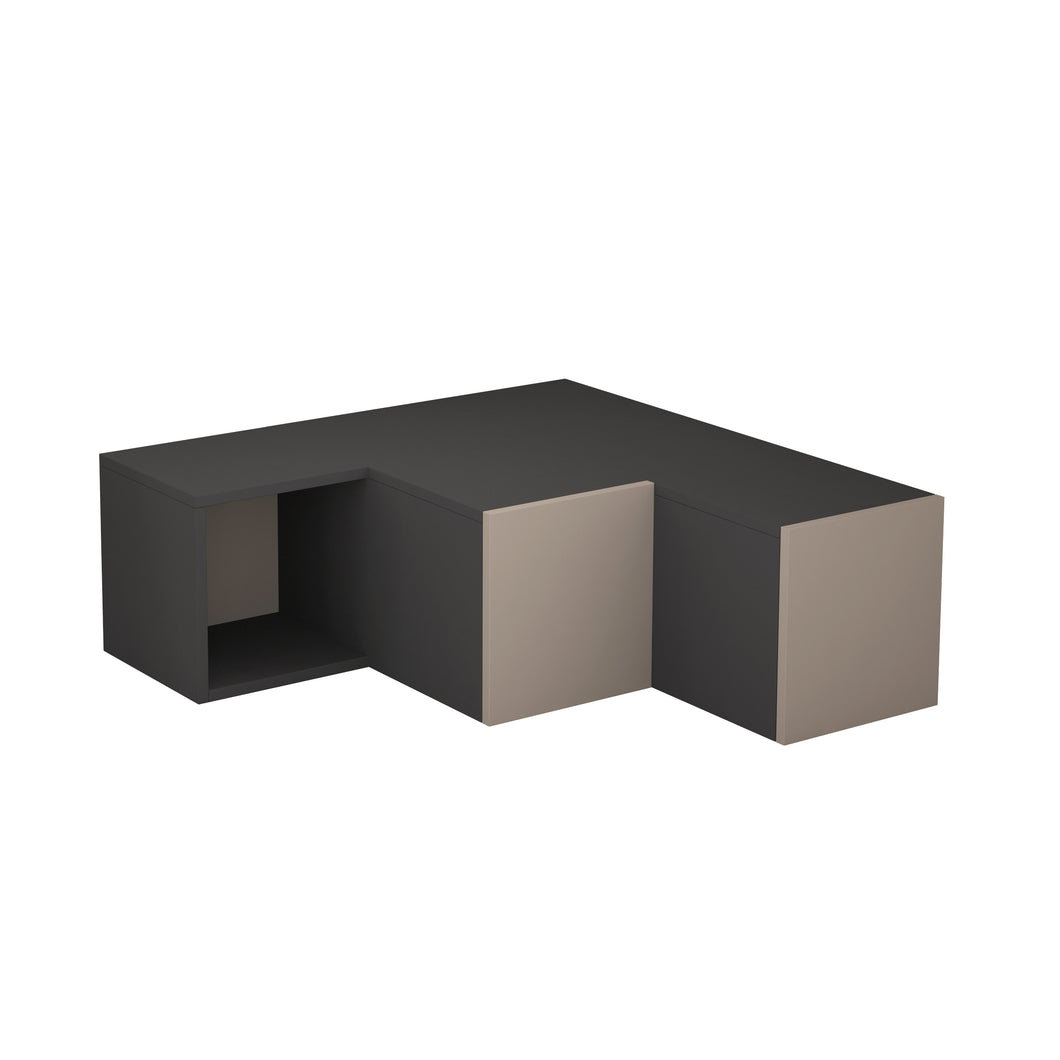 Compact - Anthracite, Light Mocha TV Stand