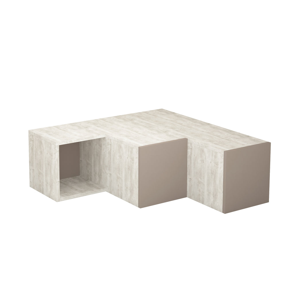 Compact - Light White, Light Mocha TV Stand