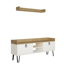 Keday - White, Oak TV Unit