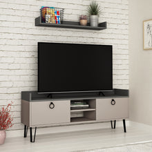Keday - light Mocha, Anthracite TV Unit