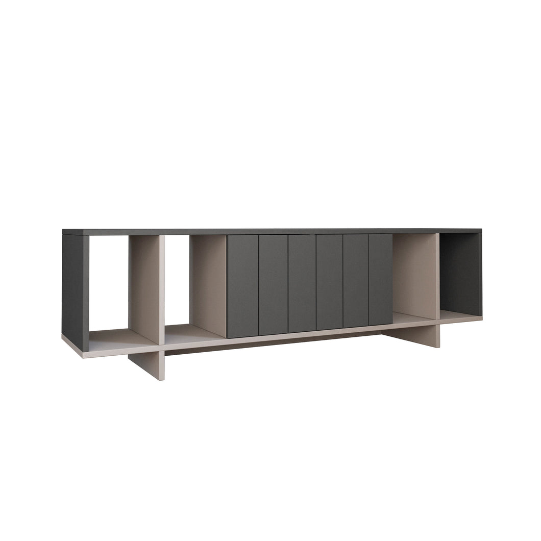 Zitano Tv Stand - Ancient White, Anthracite TV Stand