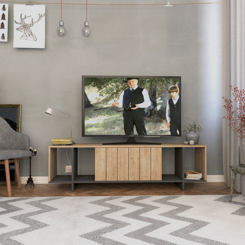 Zitano Tv Stand - Anthracite, Light Mocha TV Stand