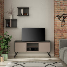 Klappe Tv Stand - Ancient White, Anthracite TV Unit