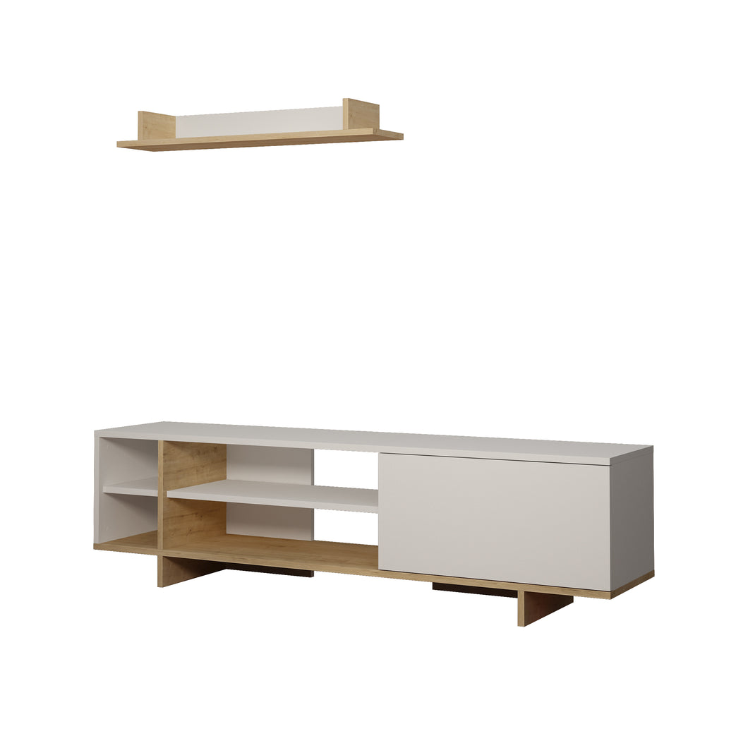 Stockton - White, Oak TV Unit