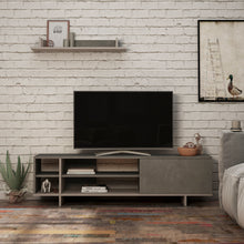 Stockton - Retro Grey, Light Mocha TV Unit