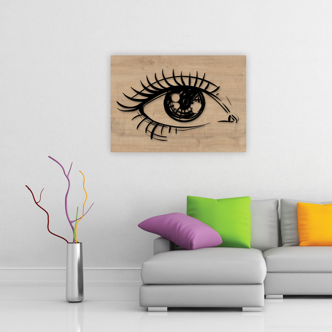 Black Pupil Wooden Frame