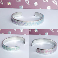 Image only rainbow, pastel or gradient cuff