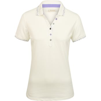Ladies Kartel Polo White - Golf Stitch