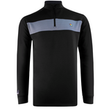 Mens Arnold Palmer 1/4 Zip Tech Sweater Black
