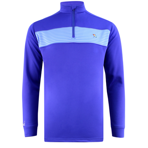 Mens Arnold Palmer 1/4 Zip Tech Sweater Blue