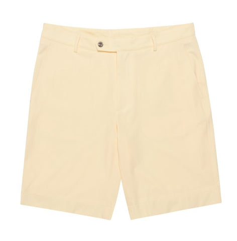 Mens Fairway & Greene Larson Flat Front Tech Shorts Cabana Yellow - Golf Stitch