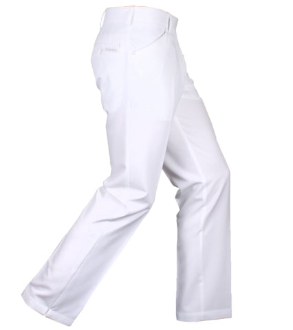 Mens Stromberg Long Pant White - Golf Stitch