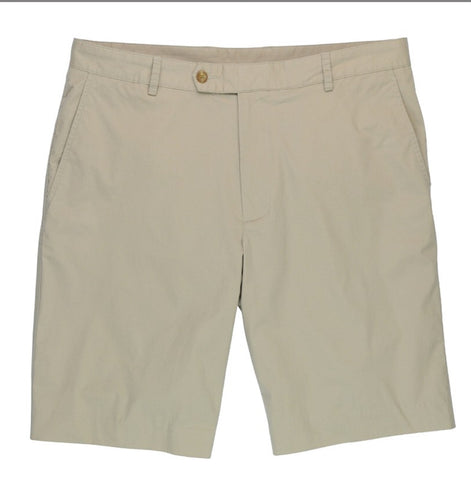 Mens Fairway & Greene Cacona Flat Front Shorts Khaki - Golf Stitch