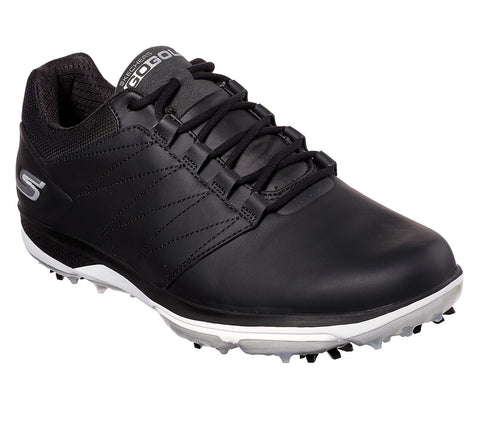 Mens Skechers Pro V4 Golf Shoes Black/White