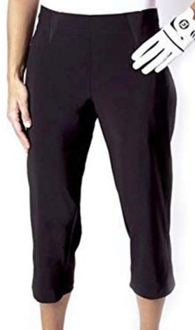 Ladies Birdee Stretch Techo Capri Black