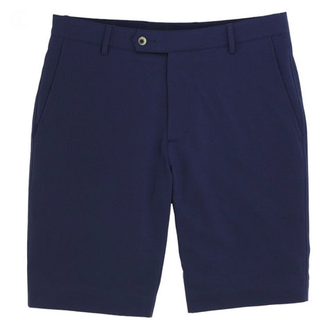 Mens Fairway & Greene Flat Front Tattersall Short Navy - Golf Stitch
