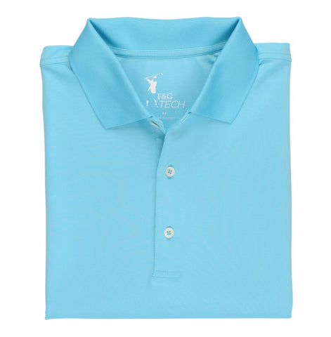Men's Fairway & Greene Fine Stripe Tech Polo Breeze - Golf Stitch
