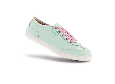 Ladies Duca Del Cosma Menterosa Golf Shoe Milky Green - Golf Stitch