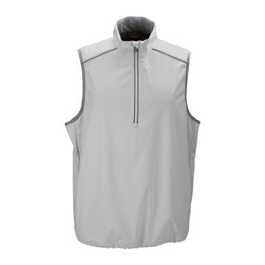 Mens Greg Norman Waterproof Vest Chrome - Golf Stitch