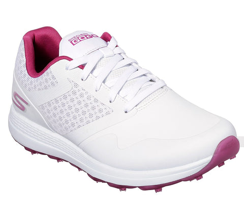 Ladies Skechers Max Golf Shoes White/Pink