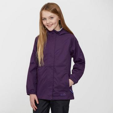 Didrikson Junior Tigress Weatherproof Jacket & Pant Set Purple/Grey