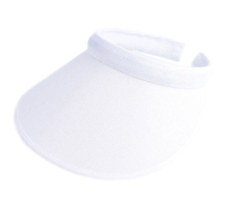 Ladies Chloe Lee Mid Brim Clip Visor White