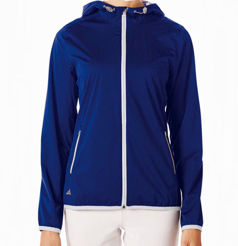 Ladies Adidas Climastorm Waterproof Jacket Cobalt - Golf Stitch