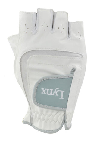 Ladies Lynx Tigress 1/2 Finger Glove White