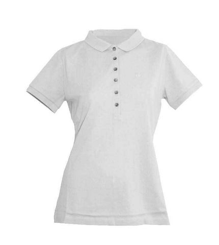 Ladies Calvin Klein Cotton Polo White - Golf Stitch